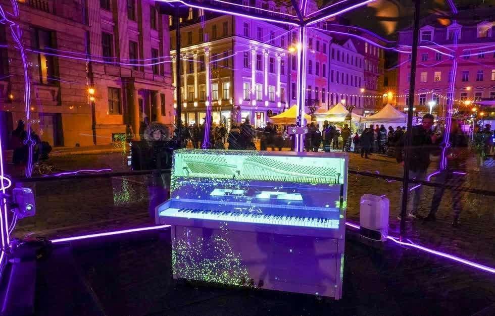 Lễ hội ánh sáng Staro Riga tại Latvia