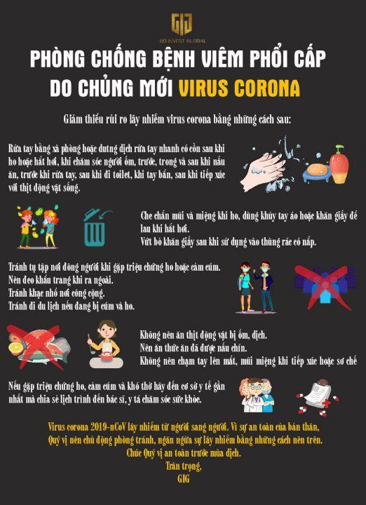 Làm cách nào để bảo vệ chính mình và gia đình trước Virus Corona - GIG